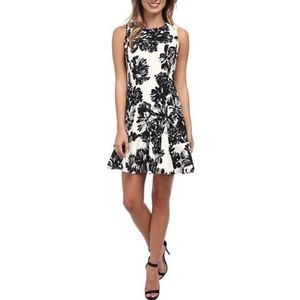 Rebecca Taylor Floral Flippy Dress Sleeveless